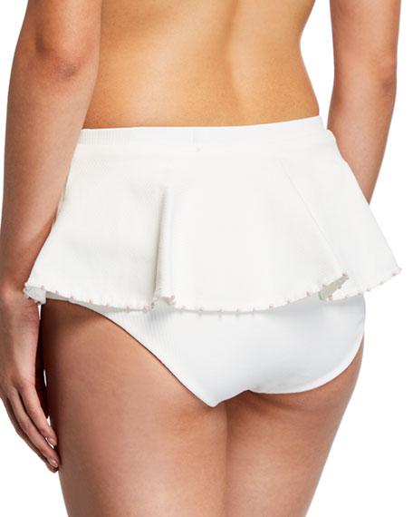 French Gramercy Ruffled Solid Swim Bikini Bottoms