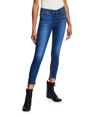 Verdugo Ankle Skinny Jeans w/ Raw Slit Hem