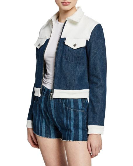 Levi's Jackets WESTERN SLIM COLORBLOCK DENIM TRUCKER JACKET