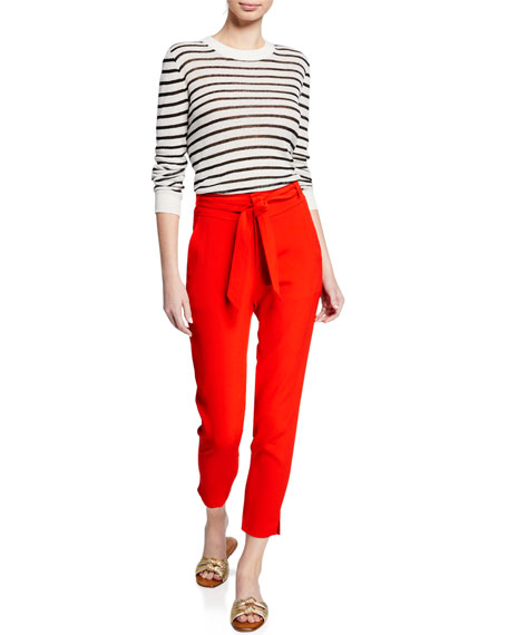 Faxon Belted Skinny Cropped Pants