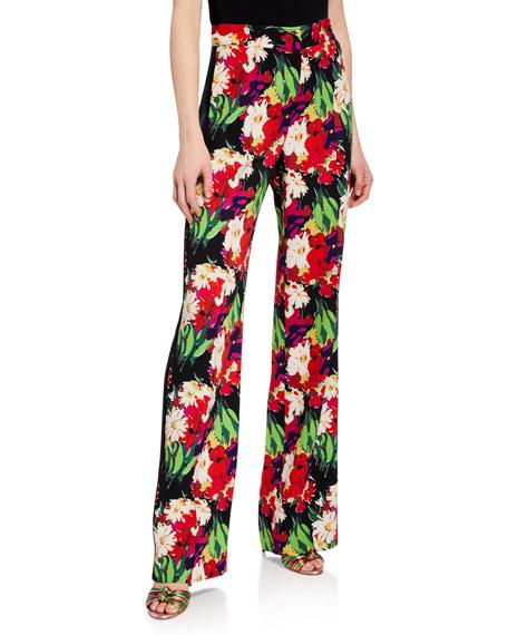 Grigore Floral High-Rise Tuxedo Pants