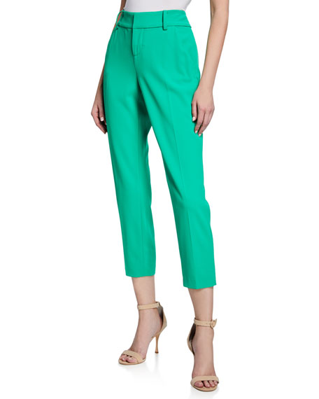 Alice + Olivia Stacey Slim Straight-Leg Trousers