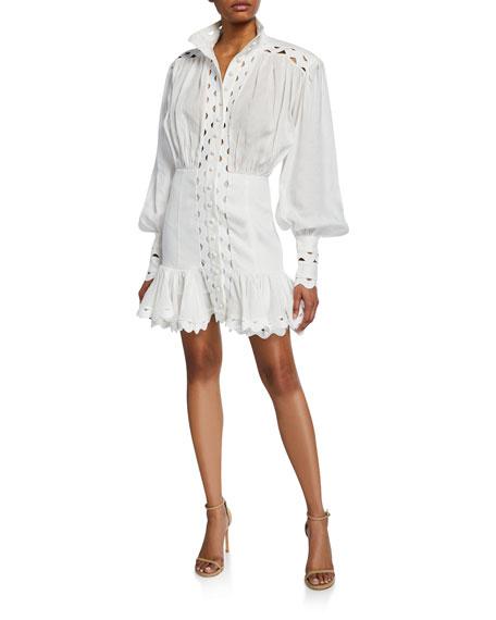 Zimmermann Dresses Ninety-Six Wave Linen Dress, IVORY