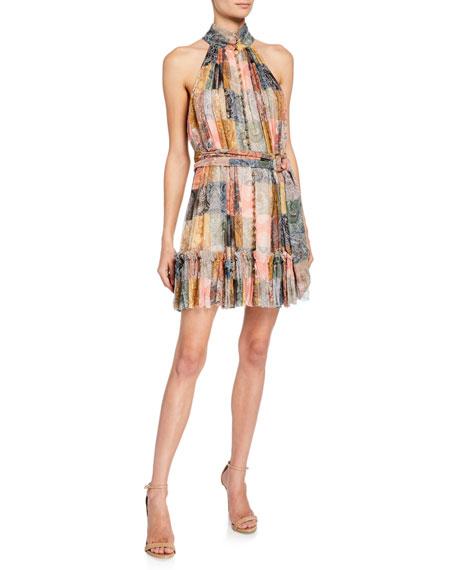 eacb81255519f Zimmermann Ninety-Six Smocked Button-Front Short Dress