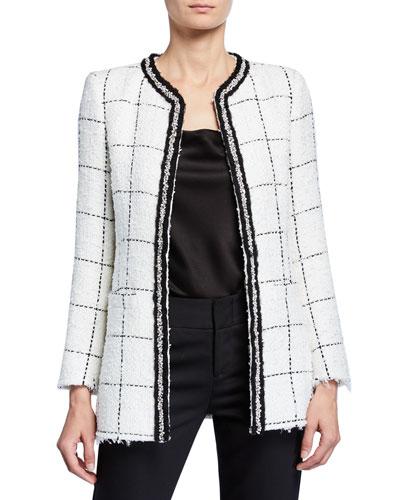 Indira Strong-Shoulder Fitted Jacket