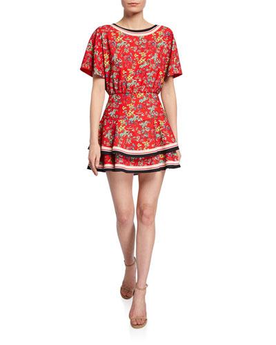 Palmira Tie-Back Tiered Ruffle Dress
