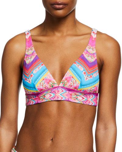 Lucia Printed Triangle Bikini Top