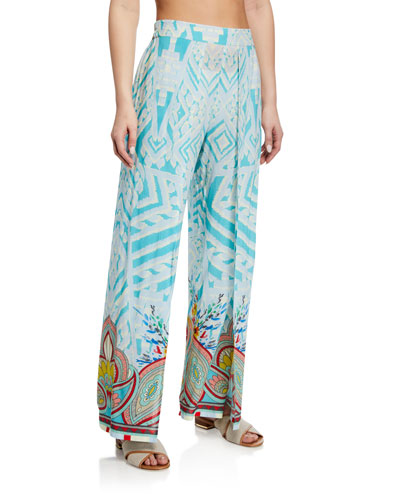 Dandridge Printed Coverup Pants