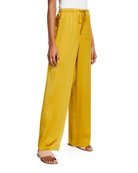 Vince Satin Wide-Leg Pajama Pants