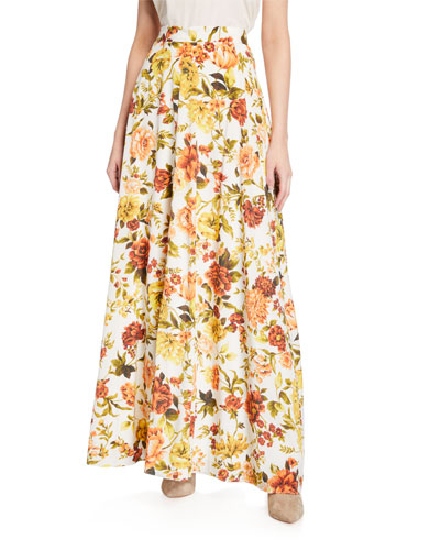 e622b65958a Zippy Basque Floral-Print Skirt Quick Look. Zimmermann