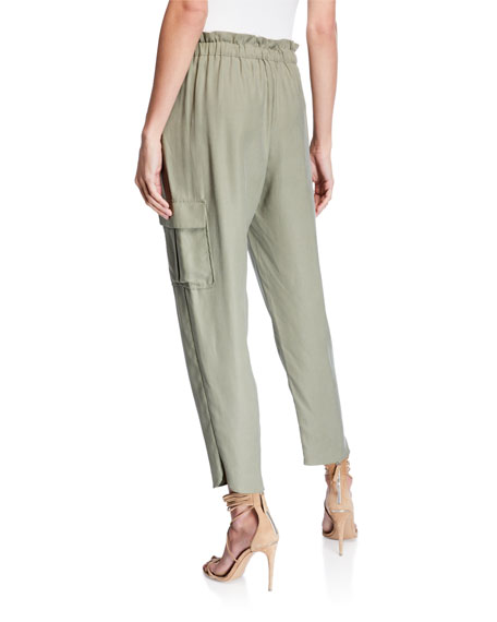 Allyn Drawstring Pants with Utility Pockets