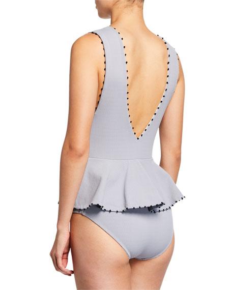 French Gramercy Peplum One-Piece Swimsuit