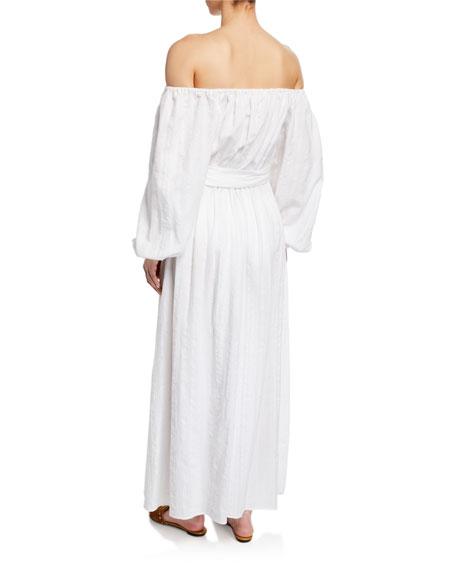 Mara Hoffman Plus Size Malika Off-the-Shoulder Blouson-Sleeve ...