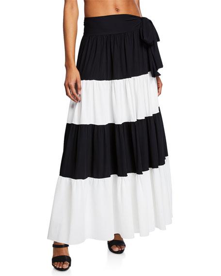 Chiara Boni La Petite Robe Vittoria Side-Tie Colorblock