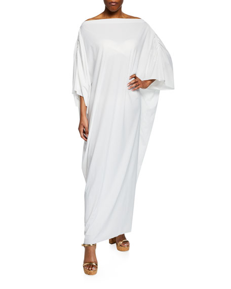 Chiara Boni La Petite Robe WHOOPI OFF-SHOULDER LONG COVERUP CAFTAN