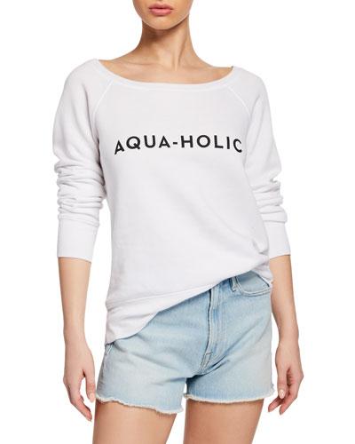 Aqua-Holic Scoop-Neck Graphic Pullover