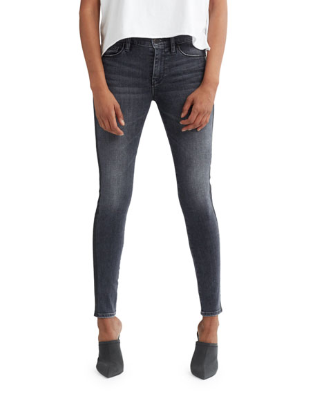 Nico Mid-Rise Super Skinny Ankle Jeans with Side Stripes
