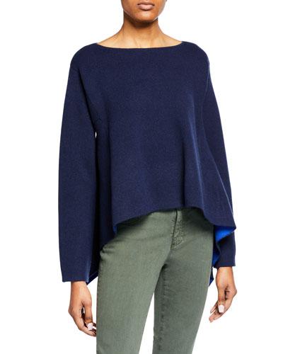 Canaria Cashmere-Blend Pullover Sweater