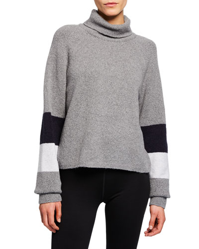 Piste Cropped Turtleneck Sweater