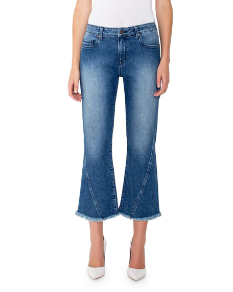 Harper Mid-Rise Cropped Flare Jeans