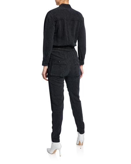 7b3234e846 Etoile Isabel Marant Lashay Twill Snap-Front Jumpsuit