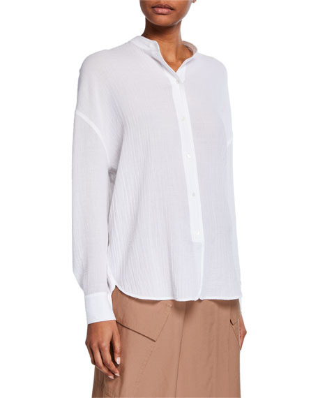 Relaxed Cotton Button-Up Tunic