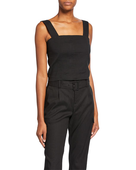 Wide-Strap Cropped Shell