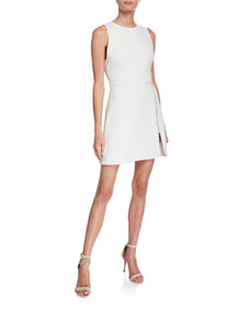 Julie A Line Dress W/ Front Zipper by Alice + Olivia