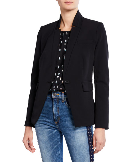 Veronica Beard Jackets RAE SINGLE-BUTTON DICKEY JACKET