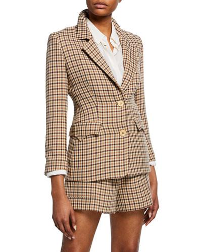 Jerome Check Tweed Blazer