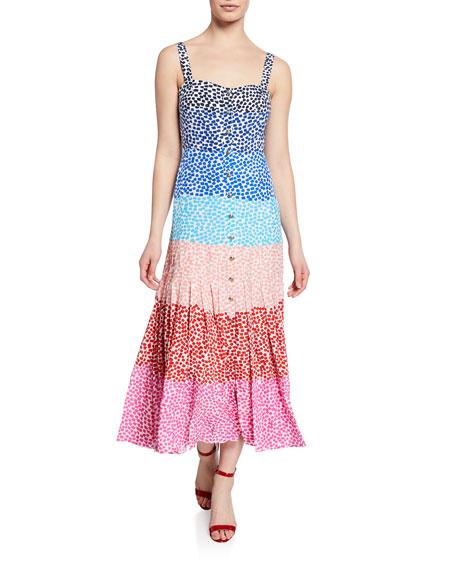 Saloni Karen Rainbow Gradient Dress