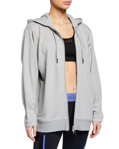 adidas by Stella McCartney Essential Zip-Front Active Hoodie