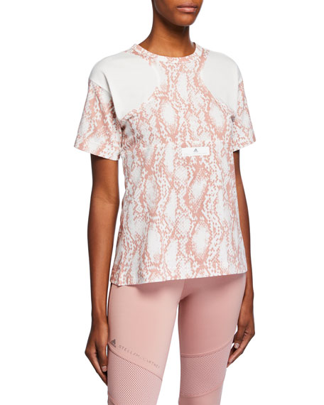 adidas by Stella McCartney Short-Sleeve Mesh Graphic Tee