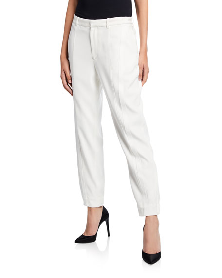 Jason Wu Straight-Leg Satin Back Crepe Pants
