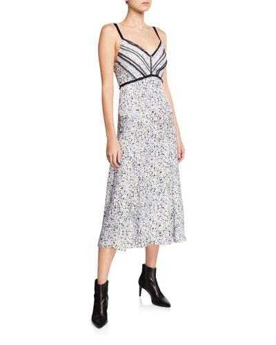 Forget Me Not V-Neck Sleeveless Satin Dress