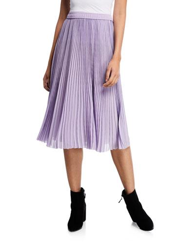 Textured Chiffon Midi Skirt