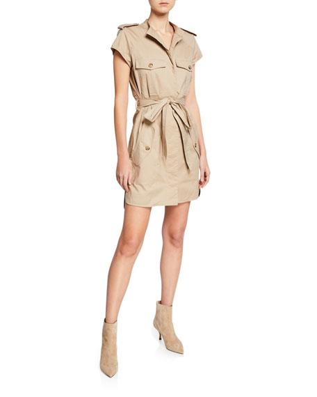 Jason Wu Belted Short-Sleeve Cotton Trench Dress