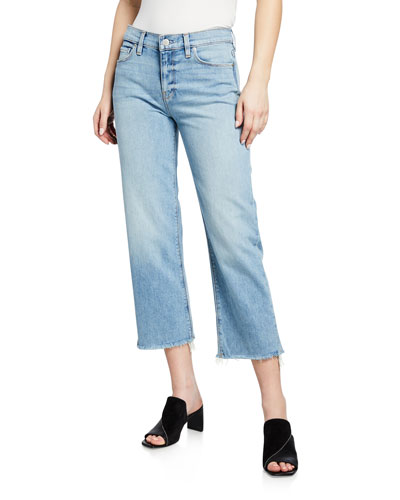 Stella Mid-Rise Cropped Straight-Leg Jeans