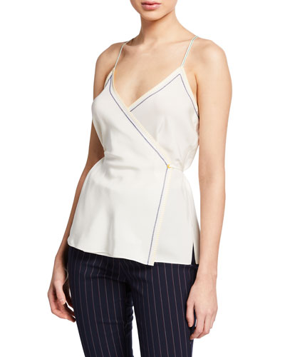Lina Silk Wrap Tank Top