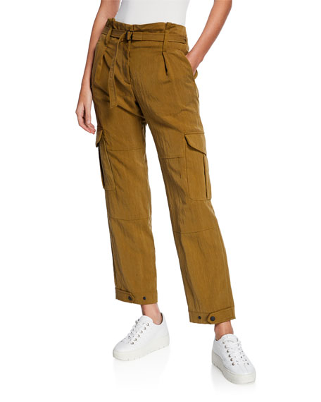 Rag & Bone Tilda Belted Straight-Leg Cargo Pants