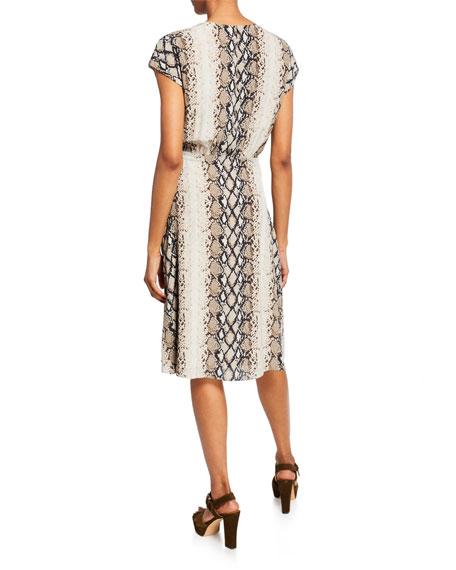 Bethwyn C Printed Wrap Dress