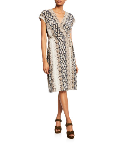c2d6ee44bb6 Promotion Bethwyn C Printed Wrap Dress Quick Look. Joie