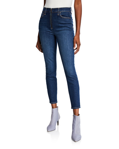 db55260819 ALICE + OLIVIA JEANS Good High-Rise Ankle Skinny Jeans with Exposed Zip Fly