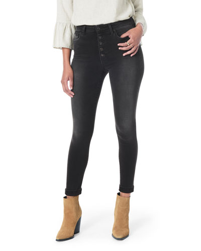 The Hi (Rise) Honey Ankle Skinny Jeans w/ Button Fly