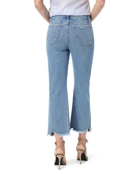 The Wyatt High-Rise Crop Jeans w/ Destructed Hem