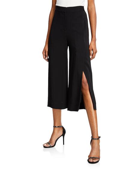 Jamie Split Wide-leg Cropped Pants