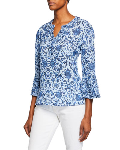 Candice Patterned Silk Blouse