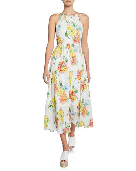 Kobi Halperin Dresses LANA FLORAL-PRINT HALTER DRESS