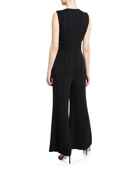 Zoe Sleeveless Wide-Leg Jumpsuit