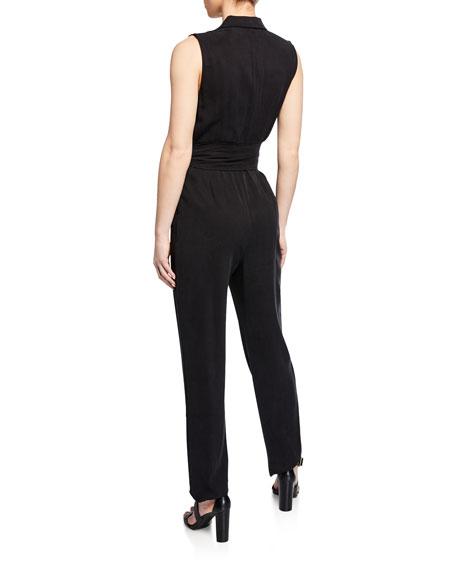 Erica Sleeveless Straight-Leg Jumpsuit